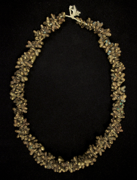 Ghana bronze necklace