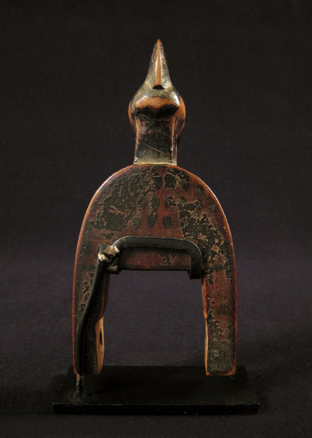 African Tribal Art - Heddle pulley, Senufo, Ivory Coast, back