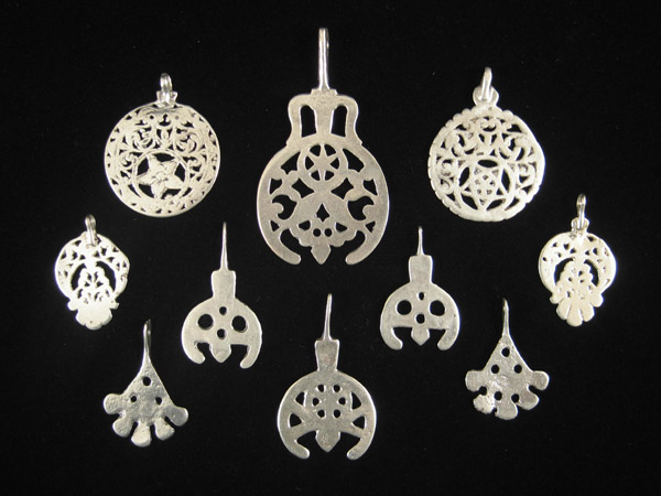 African Tribal Art - Silver pendants, Egypt, Libya and Tunisia, verso