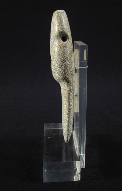 Art of the Americas -  Stone axe-god, Costa Rica, side