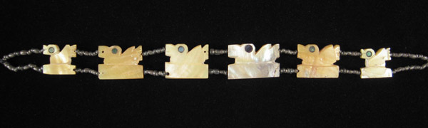Art of the Americas - Mother-of-pearl shell necklace, Chimu, Peru