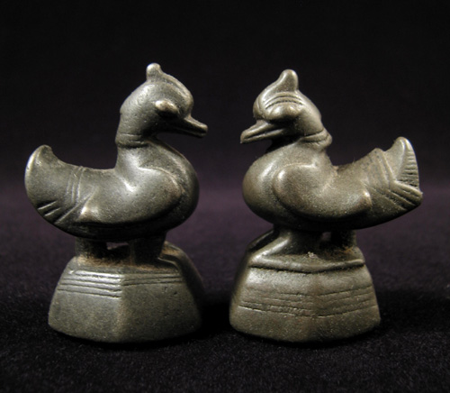 Asian Tribal Art - Hantha (duck) opium weights - Burma
