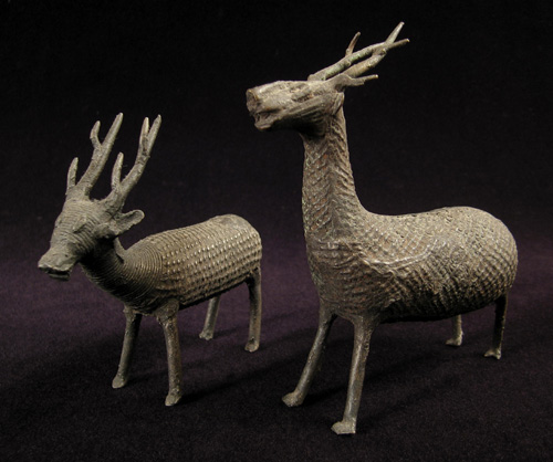 Asian Tribal Art - Bronze reindeer, Kondh, India