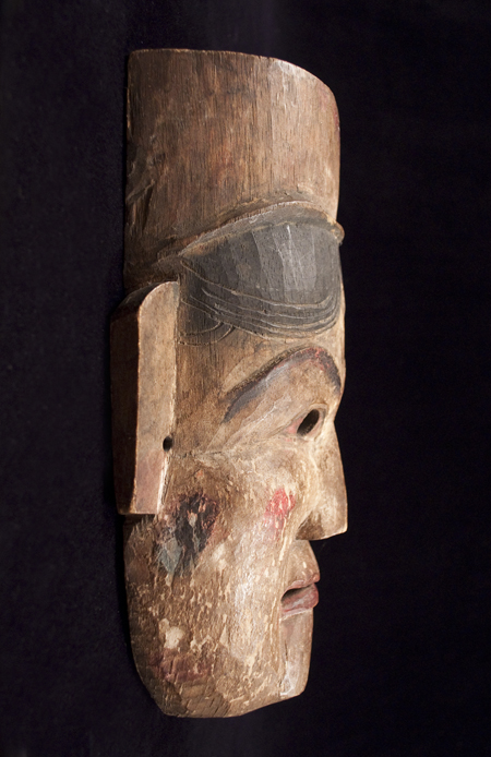 Village Theater Mask, Nepal - left side view