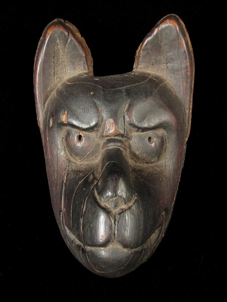 Asian Tribal Art - Fox puppet head, Japan