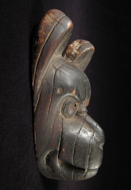 Asian Tribal Art - Fox puppet head, Japan, left