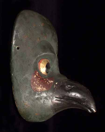 Karasu Tengu Mask, left view