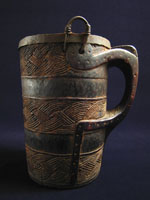 Asian Tribal Art - Wood milk jug, Nepal