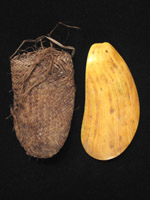 Oceanic Art -  Shell currency with pouch, Massim, Papua New Guinea