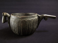 Asian Tribal Art - Wood milk jug, Afghanistan
