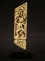 Asian Tribal Art - Bone ornament, Tibet