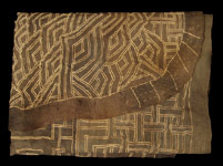 African Tribal Art - Appliqu�d skirt, Kuba, D.R. Congo
